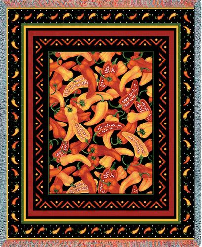 Chili Peppers Tapestry Throw, 53in x 70in