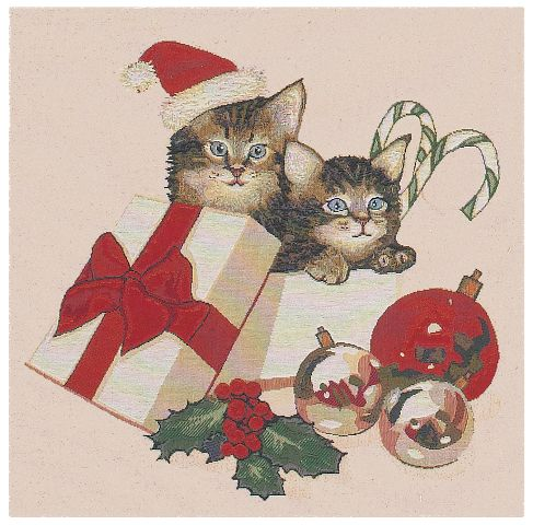Christmas Kitties Cushion Cover, 18in x 18in