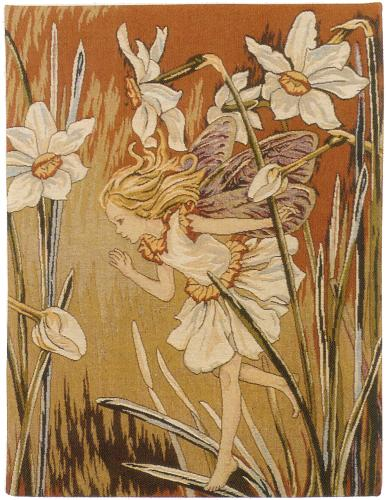 Romantic Tapestry The Narcissus Fairy By Cicely Mary Barker, 25in X 19in