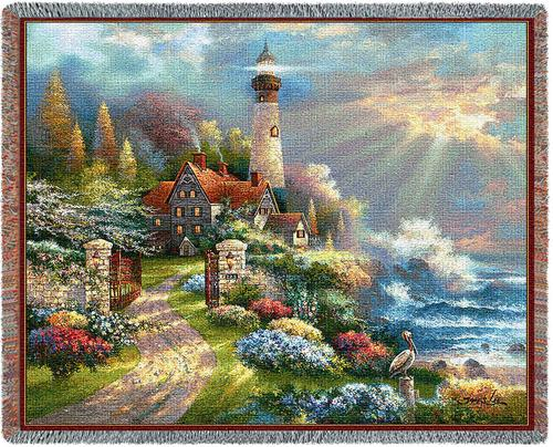 Coastal Splendor Tapestry Throw, 53in x 70in