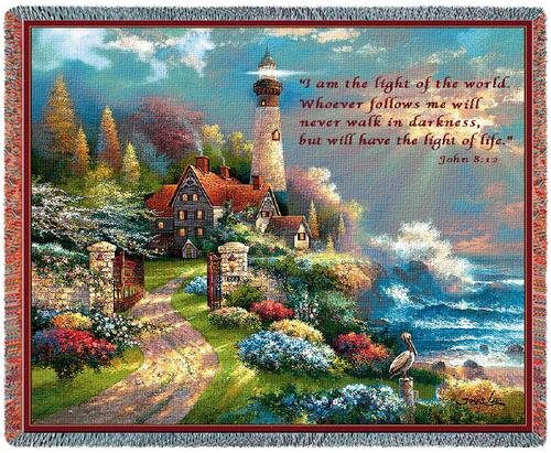 Coastal Splendor (with words) Tapestry Throw, 70in x 53in