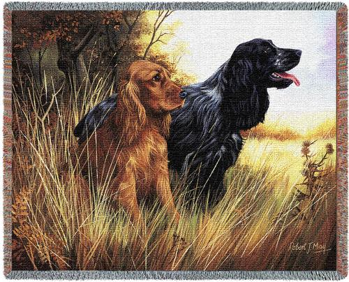 Cocker Spaniel Tapestry Throw, 70in x 53in