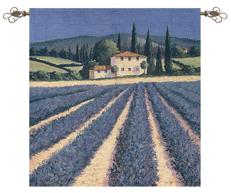 Colours Of Summer Tapestry Wall Hanging - Tuscan Field, 38in X 38in