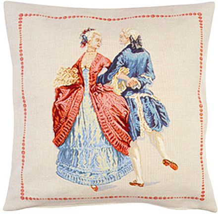Courtoisie Tapestry Cushion Cover - Classic Home Decor Collection, 18in x 18in cushion cover