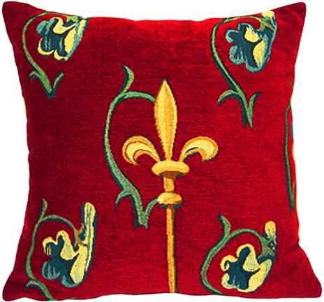 Crosse Rubis Tapestry Cushion Cover - European Home Decor Collection, 18in x 18in cushion cover