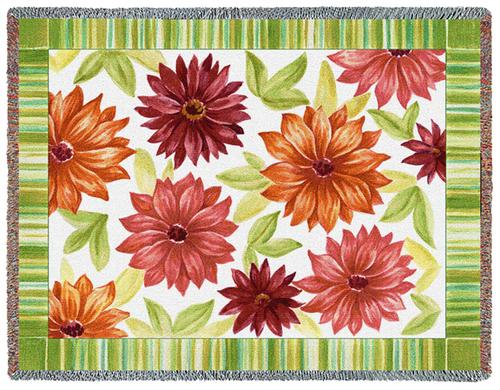 Dahlias Tapestry Throw, 54in x 70in