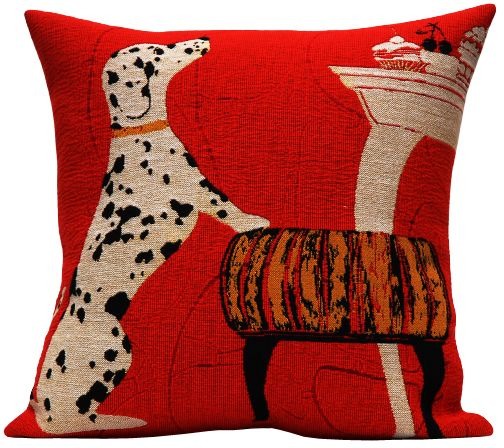 Dalmatian Tapestry Cushion Cover - Pets Home Decor Collection, 18in x 18in cushion cover