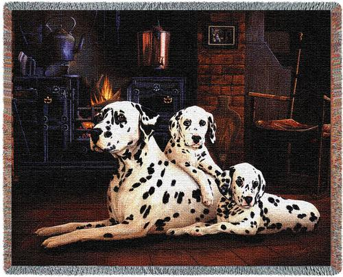 Dalmatian Tapestry Throw, 70in x 53in