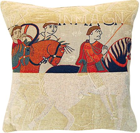 Damas Cavaliers Tapestry Cushion Cover - European Home Decor Collection, 18in x 18in cushion cover