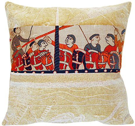 Damas Drakkar Tapestry Cushion Cover - European Home Decor Collection, 18in x 18in cushion cover