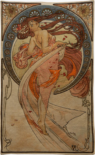 Dance Romantic Tapestry Wall Hanging - Alphonse Mucha Art, 45in X 27in