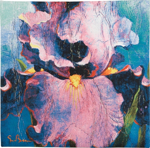 Dancer Contemporary Floral Tapestry - from the art work of Simon Bull, 21in x 21in