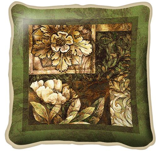 Decorative Textures Contemporary Tapestry Cushion - Floral Design, 17in x 17in