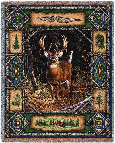Deer Lodge Tapestry Throw, 54in x 70in