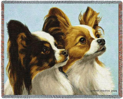 Deux Papillon Tapestry Throw, 70in x 54in