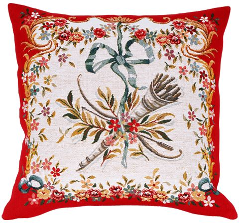 Diane Rouge Tapestry Cushion Cover - European Home Decor Collection, 18in x 18in cushion cover