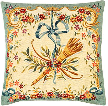 Diane Vert Tapestry Cushion Cover - European Home Decor Collection, 18in x 18in cushion cover