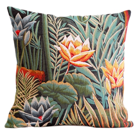 Douanier Tapestry Cushion Cover - European Home Decor Collection, 18in x 18in cushion cover