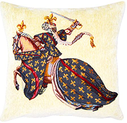 Duc De Bourbon Tapestry Cushion Cover - Classic Home Decor Collection, 18in x 18in cushion cover