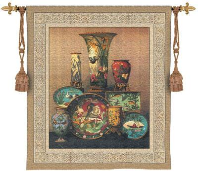Elkington's Cloisonne Still Life Wall Tapestry, 42in x 53in