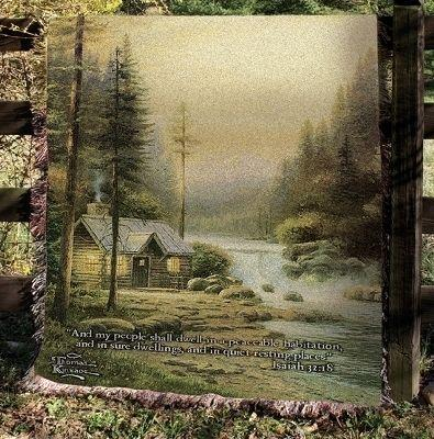 Evening in the Forest Tapesty Throw, 51in x 68in