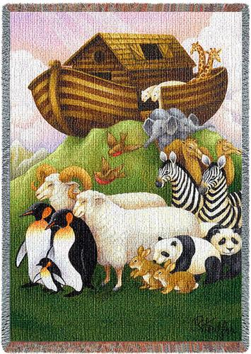 Exiting the Ark Mini Tapestry Throw, 54in x 35in