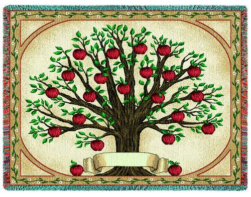 Family Tree Tapestry Throw, 53in x 70in