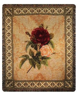 Festival of Flowers Tapesty Throw, 50in x 60in