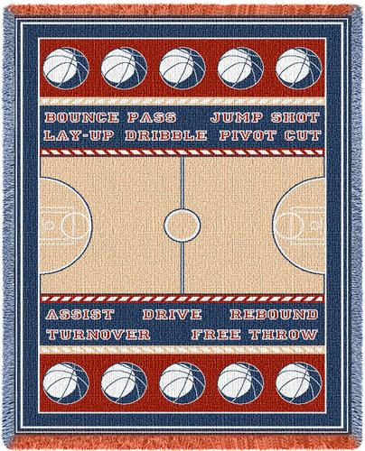 Field Basketball Tapestry Throw, 48in x 69in