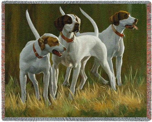 First Light Hounds Tapestry Throw, 70in x 54in