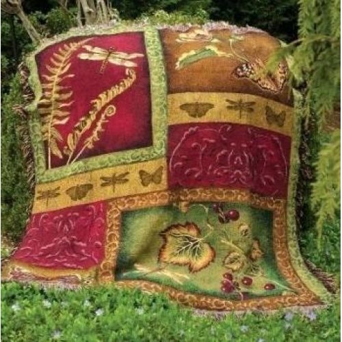 Flora & Fauna Tapesty Throw, 51in x 68in