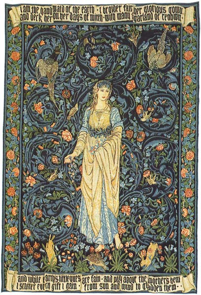Flora Romantic Tapestry Wall Hanging, 54in x 36in