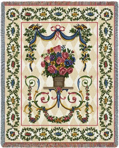 Floral Majesty Tapestry Throw, 54in x 70in