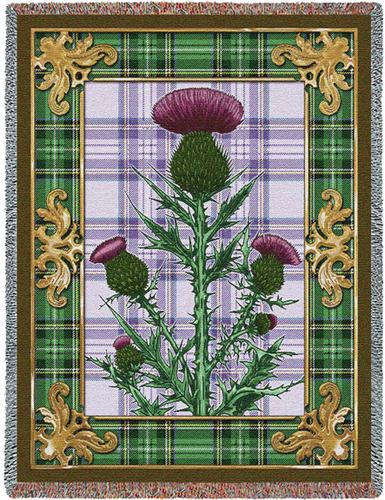 Flowering Thistle Tapestry Throw, 53in x 70in