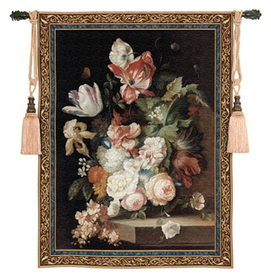 Flowers Of Grace Floral Tapestry - Flowers In Vase Picture, 53in x 76in