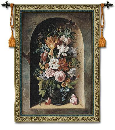 Flowers Of Harmony Tapestry Wall Hanging - Floral Bouquet Picture, 38in x 53in