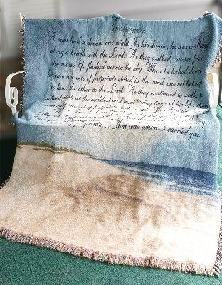 Footprints in the Sand Tapesty Throw, 51in x 68in