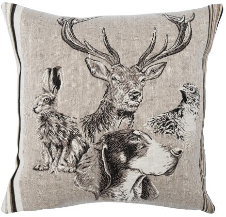 Forest Spirit Cerf Tapestry Cushion Cover - Wild Life Collection, 18in x 18in cushion cover
