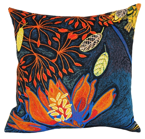 Foret Tapestry Cushion Cover - European Home Decor Collection, 18in x 18in cushion cover