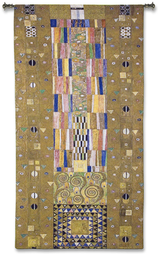 Fregio Stoclet Wall Tapestry - Abstract Design by Gustav Klimt, 109in x 53in