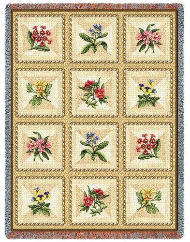 French Floral Tapestry Throw, 54in x 70in