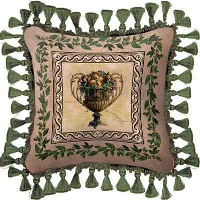 Frutti d'Estate Modern Tapestry Cushion - Fruit Stillife, 27in x 27in