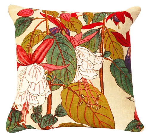 Fuchsia Tapestry Cushion Cover - European Home Decor Collection, 18in x 18in cushion cover