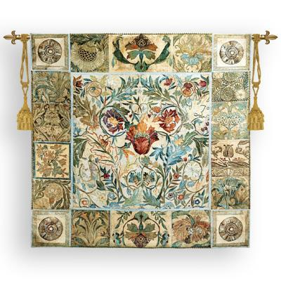 Garden Celebrations Tapestry Wall Hanging - Botanical Picture, 52in x 51in