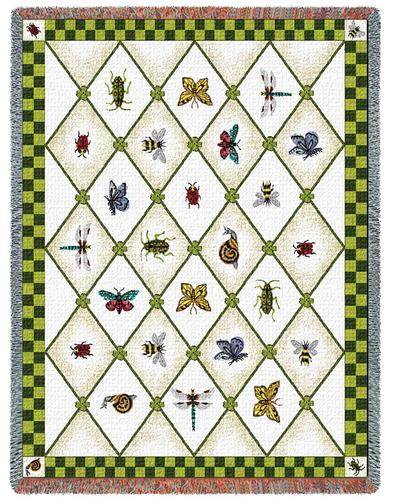 Garden Guests Tapestry Throw, 54in x 70in