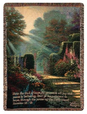 Garden of Grace Tapesty Throw, 51in x 68in