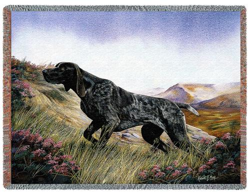 German Shorthaired Tapestry Throw, 54in x 70in