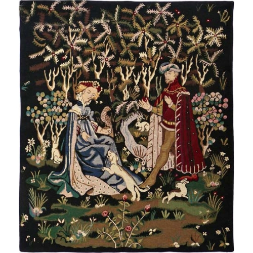 Medieval Couple Tapestry Don Du Coeur, Knight & Lady Picture