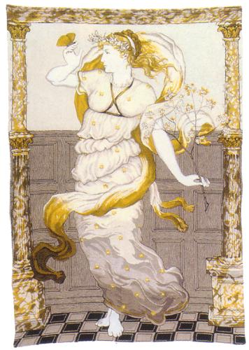 Goddess Of Spring Romantic Tapestry Wall Hanging, 40in X 27in