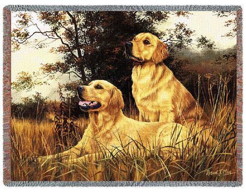 Golden Retriever Tapestry Throw, 53in x 70in